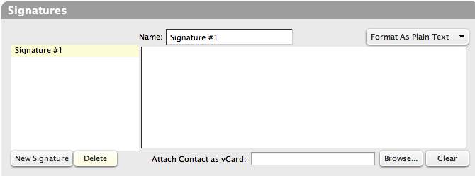 Signatures Preferences