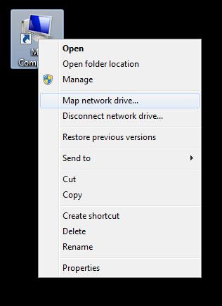 Samba Remote Drive Mapping on Windows 7 | OIT - New Brunswick on