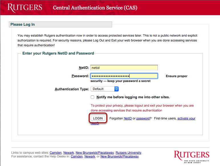 Exceptional Enter Your Rutgers NetID And Password. Click Login. Amazing Pictures