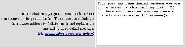 Nonmember Rejection Notice