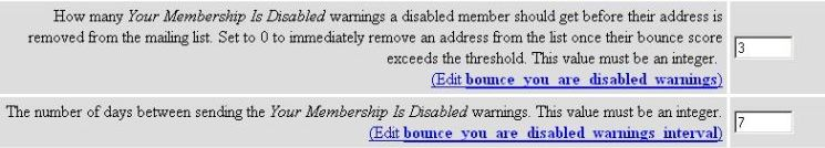Bounce You Are Disabled Warnings