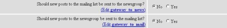 Gateway to News and Gateway to Mail Options