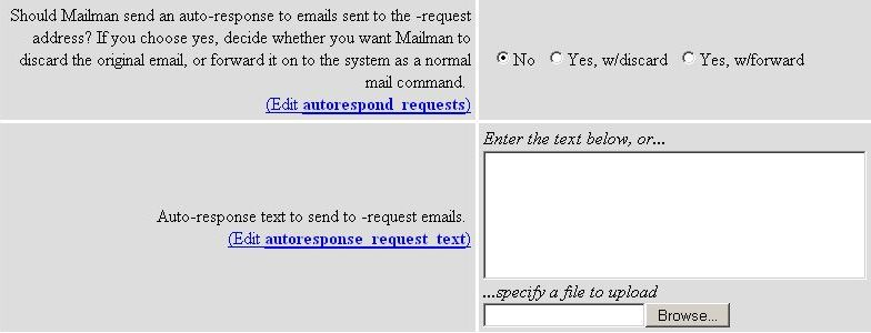 Autorespond Requests and Autoresponse Request Text