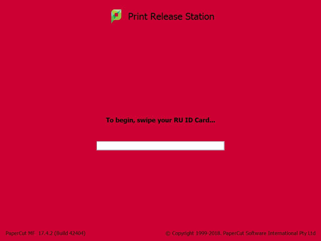 how do i release my print job oit new brunswick